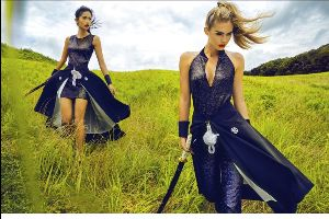 GUESS Campaign in japan attracted with hot samurai models and beautiful scenes.