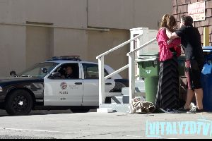 Woman Abused In Front Of Cops Prank! The End is Epic