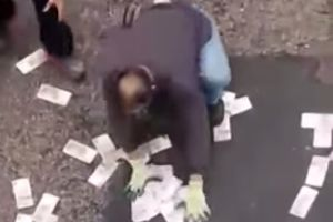 Meanwhile in Hong Kong...Van accidentally spills $2.3 million cash all over the street. Would you steal the money and run?
