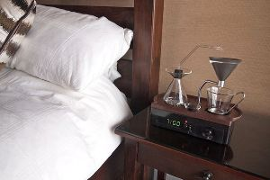 This Alarm Clock Automatically Brews Coffee While You Wake