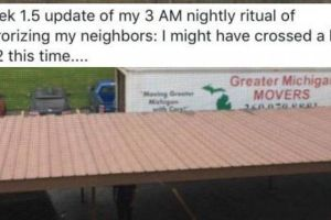Guy Found A Great Way To Get Rid Of An Annoying And Crappy Neighbor (2 pics)