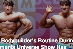 Korean Bodybuilder`s Routine During Musclemania Universe Show Has Everyone Entertained
