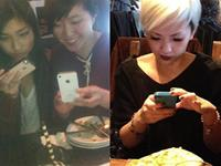 Pictures of hipsters taking pictures of food