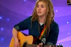 16 yo girl on Swedish Idol auditions with original song which later became an international hit