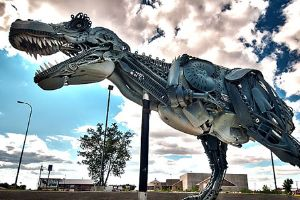 Amazingly Stunning T-Rex Sculpture Made From Total Junk
