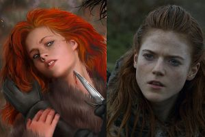 How The Game Of Thrones Characters Look In The Book vs The TV Show
