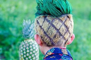 This Guy Lost A Bet, So His Cousin Got To Dress His Hair