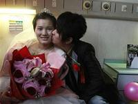 Chinese man marries his girlfriend (who has leukemia) on a bed in hospital