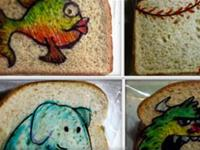 Awesome Dad Draws Rad Art on Kids Sandwich Bags