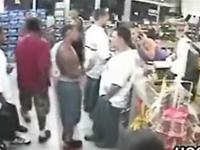 BOXING in the supermarket