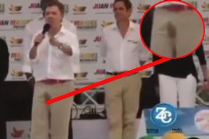 President Of Colombia Pees Himself During Speech on live TV