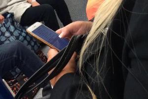 Busted! A Woman Was Caught Casually Sexting On Public Transportation
