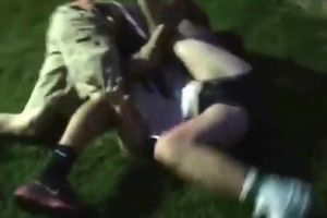 Girl Completely Destroys A Group Of Boys With Jiu Jitsu In A Park