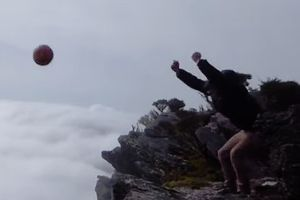 They Went To A Cliffside To Throw Something. The Result Will Leave You Speechless
