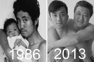 For 28 Years, Father And Son Took Same Picture Together Until Last Year