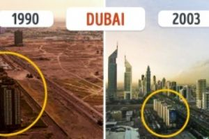 Ten incredible cities which have changed beyond recognition. Dubai will make your jaw dropped