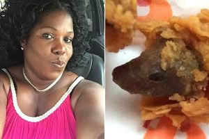 This Woman Found A Rat`s Head While Biting Into Her Fried Chicken