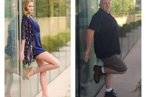 Dad Hilariously Recreates Daughter`s Model Photoshoot After Staying at Same Hotel (9 Photos)
