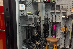 A Guy Made A Secret Room Where He Keeps A Real Arsenal (9 pics + 1 gif)