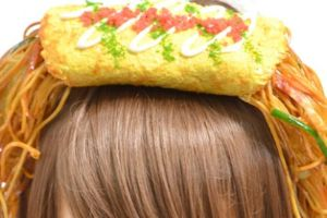 Now you can wear food on your head. This is weird, just weird!