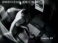 Chinese man senselessly beats another man in the elevator