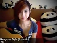 Psy Gangnam Style Acoustic Covered by A beautiful girl