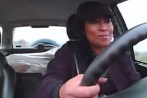 Zero f**k were given that day!? Woman Stays Super Calm through Scary Car Crash