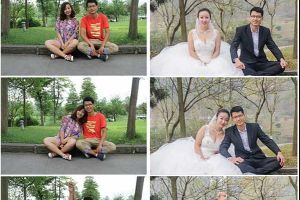Chinese couple chose University where they met for wedding photos shoot and reenacted their dating photos