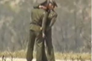 Gay North Korean soldiers spotted Kissing on South Korean CCTV