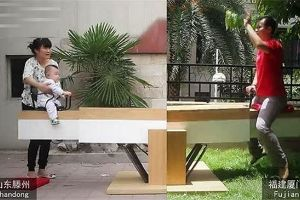 Loving dad builds `World longest` Seesaw to play with son 1200 kilometers away