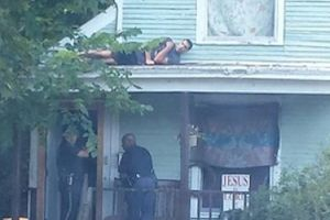 Reported Criminal Hides From Police Officers Directly Over Their Heads (Photo)