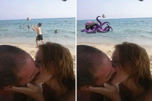 Couple Asked Internet To Photoshop Their Romantic Holiday Photo And It Didn`t Go To Plan
