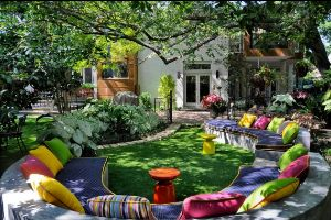 17 Ideas How To Make Colorful Outdoor Space