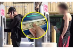 Guy Purposely Leaves Money In The ATM To See If People Are Honest Or Not In This Social Experiment