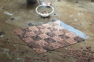 Floor Covered With Real Pennies Will Make You Go WOW