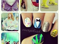 Awesome Gangnam style nail art