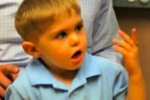 Little boy was born deaf. Now, he hears his dad`s voice for the first time, his reaction is priceless.
