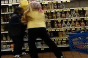 Rude kids running wild in a store...Mother has no control