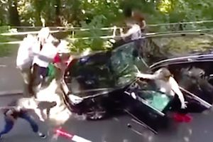 Refugees in Switzerland receive brutal street justice for attacking a family in car while trying to target any Kurdish people they could find.