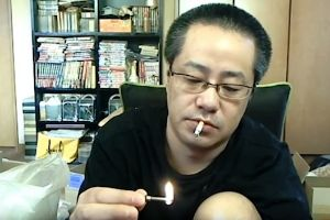 All this paper and cardboard should help put out this blaze I`ve accidentally started – Japanese Live Streamer accidentally burns down his entire house!