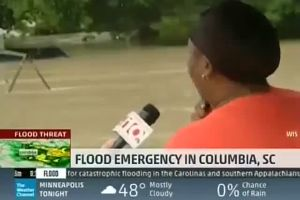This News Interview During a Flood Is the Funniest Thing You Will Watch Today (VIDEO)