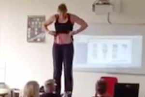 This Teacher Got Up On Her Desk And Took Her Clothes Off in Front of Kids...For A Good Reason