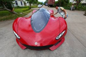 Smart Chinese Engineer Makes His Own Supercar from Scratch (14 pics)