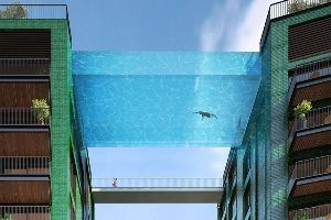 Massive `Sky Pool` in London Seemingly Floats 10 Stories Above the Ground