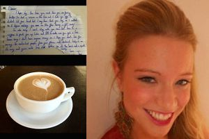 Mysterious Stranger Leaves a Surprising Note for a Girl Who Had a Seizure on the Train (2 pics + 1 gif)