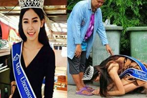 Too poor for cosmetic surgery: Thai beauty queen Thanks rubbish collecting mother who raised her