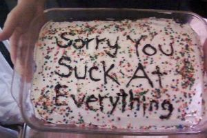 Cakes arent just for celebrating anymore, they are also for another great way to be a jerk!