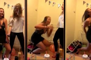 British Girl Dancing Gets A Painful Poop-Chute Surprise