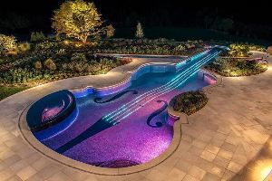 Simply Amazing Violin Swimming Pool!! You will love that the chin rest is a jacuzzi!! (21pics)