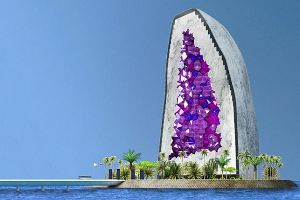 Dutch architects are developing the world`s most beautiful hotel shaped like an amethyst